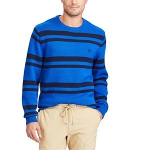 Chaps blue striped sweater